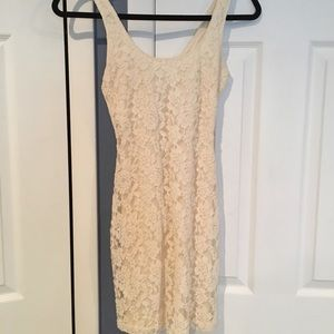 Simple tight lace dress